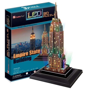 CubicFun – Empire State Building (USA) with LED lights (L503h)