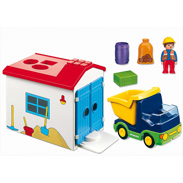 Playmobil 1 2 3 Truck With Garage 6759 Young At Heart