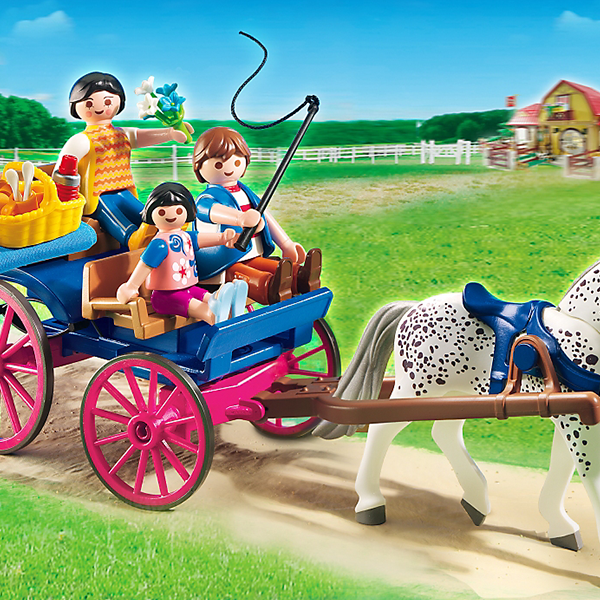 Playmobil country horse drawn carriage 5226 young at - Playmobil kutsche ...