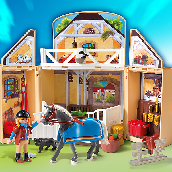 playmobil country my secret horse stable play box 5418. Black Bedroom Furniture Sets. Home Design Ideas