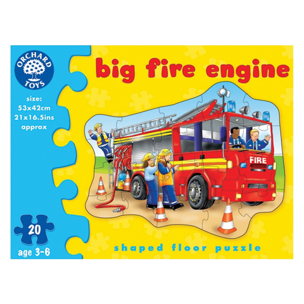 Orchard Toys Big Fire Engine Shaped Floor Puzzle Young