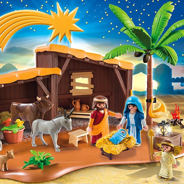 Playmobil Christmas Nativity Stable With Manger 5588