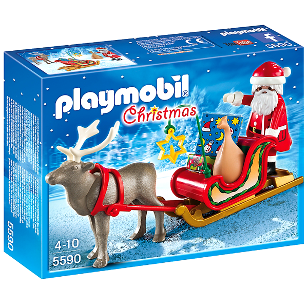 Playmobil Christmas – Santa's Sleigh with Reindeer (5590) | Young at Heart
